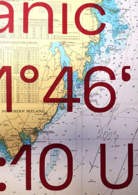 Silence Mayday, 2019, Siebdruck auf Seekarte, Detail.jpg